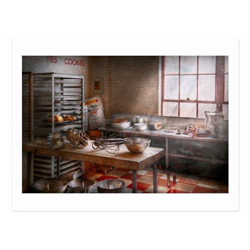 Baker - cuisine - la boulangerie commerciale cartes postales