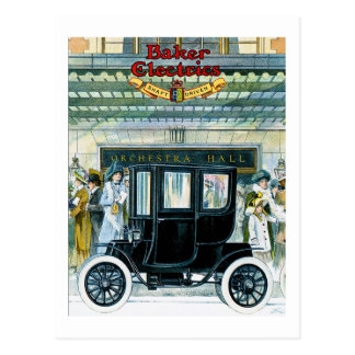 Baker Electric Cars - Vintage Ad Postcard