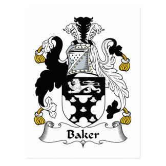 Baker Family Crest Postcard