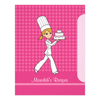 Baker Girl Pages to Index Recipes Blonde Version Custom Letterhead