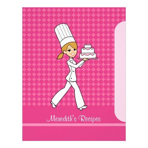Baker Girl Pages to Index Recipes Blonde Version Letterhead Design