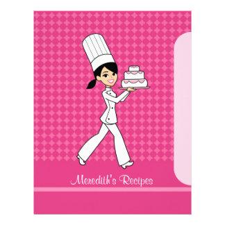 Baker Girl Pages to Index Recipes Brunette Version Custom Letterhead