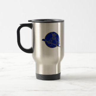 Baker Holding Peel Circle Mono Line Travel Mug