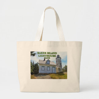 Baker Island Lighthouse, Maine Large Tote Bag