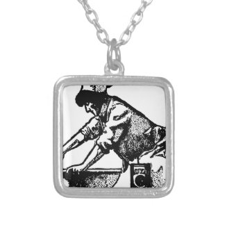 Baker Mixing Silver Plated Necklace