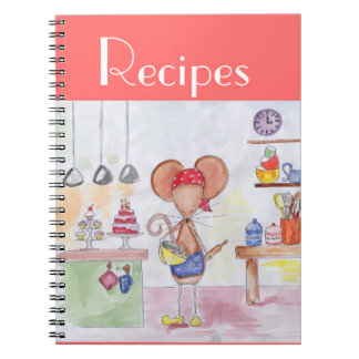 Baker Mouse Recipe Notebook