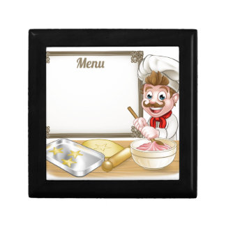 Baker or Pastry Chef Menu Sign Gift Box