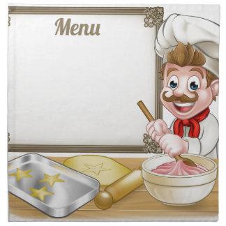 Baker or Pastry Chef Menu Sign Napkin