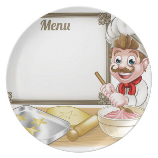 Baker or Pastry Chef Menu Sign Plates