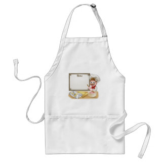 Baker or Pastry Chef Menu Sign Standard Apron