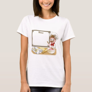 Baker or Pastry Chef Menu Sign T-Shirt