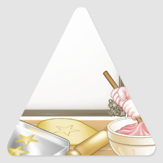 Baker or Pastry Chef Menu Sign Triangle Sticker