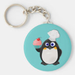 Baker Penguin with Cupcake II Key Chain