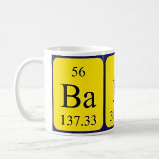 Baker periodic table name mug