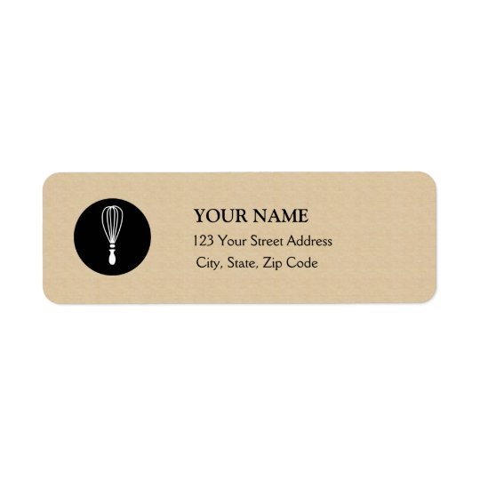 Baker Return Address Label