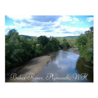 Baker River, Plymouth, NH Postcard