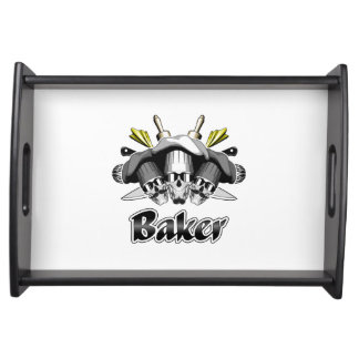Baker Skull and Cooking Utensils Food Tray