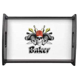 Baker Skull and Cooking Utensils Food Trays