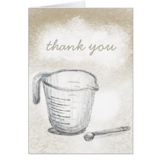 Baker stationery, you are appreciated thank you card