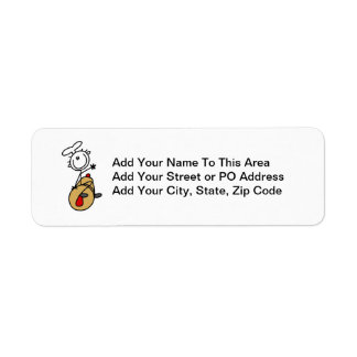Baker With Rolling Pin Return Address Label