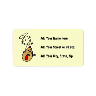 Baker With Rolling Pin Address Label