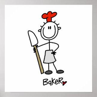 Baker With Scraper Poster