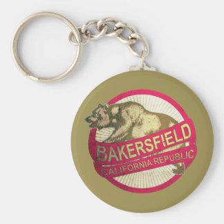 Bakersfield California vintage bear keychain