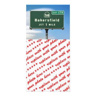 Bakersfield Exit Photo Greeting Card