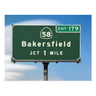 Bakersfield Exit Postcard