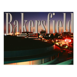 Bakersfield Skyline with Bakersfield in the Sky Postcard