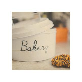 "Bakery 8""x8"" Wood Wall Art Wood Prints"