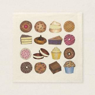Bakery Bake Sale Cupcake Pie Cookie Brownie Donut Disposable Napkins