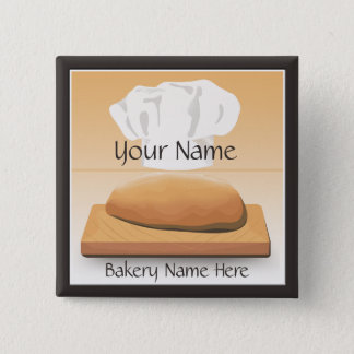 Bakery Baked Bread Name Button
