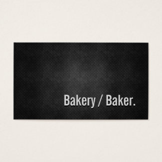 Bakery / Baker Cool Black Metal Simplicity Business Card