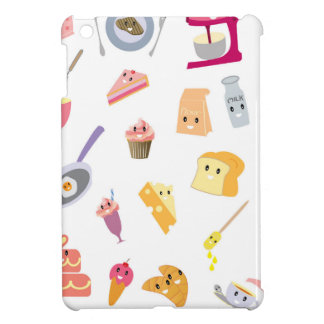 Bakery beverage and sweet kitchen cute icon set cover for the iPad mini