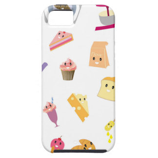 Bakery beverage and sweet kitchen cute icon set iPhone 5 case