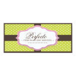 "Bakery Boutique Gift Certificate 4"" X 9.25"" Invitation Card"