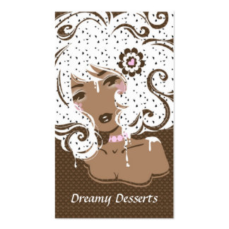 bakery business card fun cute chic sweet brown