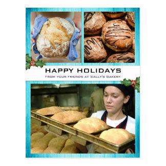 Bakery Business Christmas Holiday Photo Card Postcard