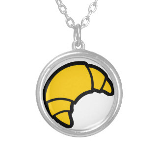 Bakery Croissant Silver Plated Necklace