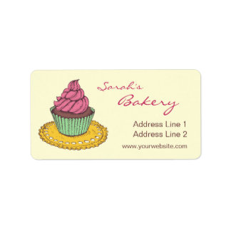 Bakery Cupcake Business Adress Labels