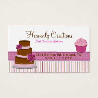 Bakery Cupcake Business Card