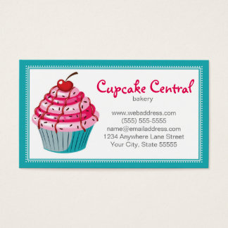Bakery Cupcake Business Card Design Template
