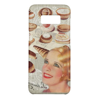 bakery cupcake pastry retro lady paris Case-Mate samsung galaxy s8 case