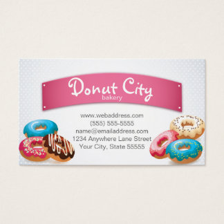 Bakery Doughnut Business Card Design Template
