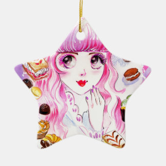 Bakery Girl Ceramic Ornament