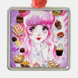 Bakery Girl Metal Ornament