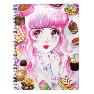 Bakery Girl Spiral Notebook