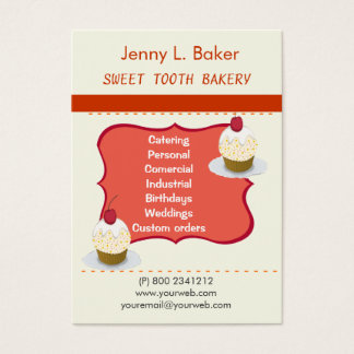 Bakery Homemade Cupcakes & Confections Business Card