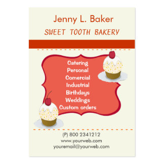 Bakery Homemade Cupcakes & Confections Pack Of Chubby Business Cards